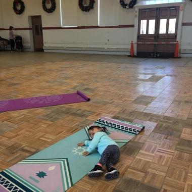 Lounging on yoga mat @ Eastern Market