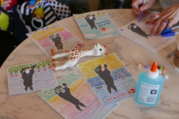 Super fun craft session after class organized by social leaders of Fit4Mom