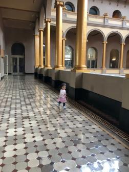 2nd floor hallway- gorgeous historic tile work!