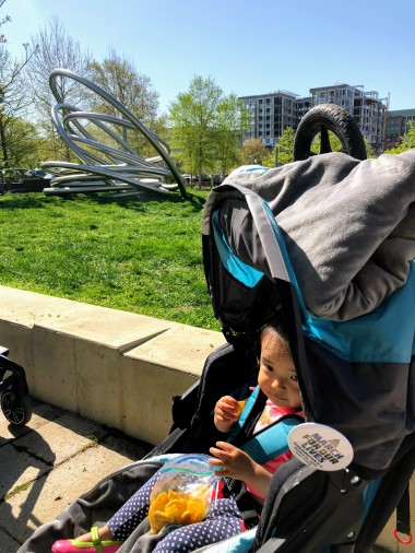 Snacking in the stroller