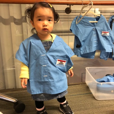 My Little Lady in Mail Carrier Uniform