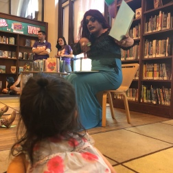 Drag queen story hour in UWS
